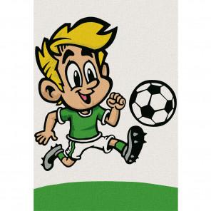 Весёлый футболист Раскраска по номерам на холсте KHM0006