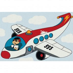 Самолёт Раскраска по номерам на холсте KHM0007
