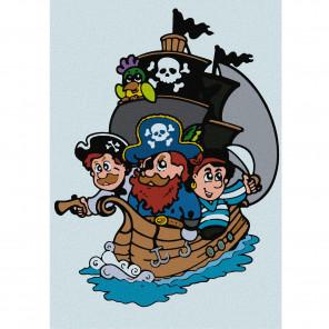 Пиратский корабль Раскраска по номерам на холсте KHM0009