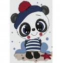 Панда-милашка Раскраска по номерам на холсте KHM0011