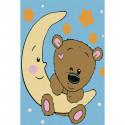 Медвежонок на луне Раскраска по номерам на холсте KHM0019