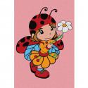 Девочка с ромашкой Раскраска по номерам на холсте KHM0027