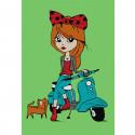Девочка с котёнком Раскраска по номерам на холсте KHM0029