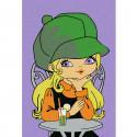 Девочка в кафе Раскраска по номерам на холсте KHM0028