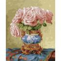 Восточные розы. Бузин Картина по номерам на дереве KD0710