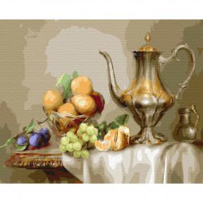 Натюрморт с фруктами. Бузин Картина по номерам на дереве KD0714