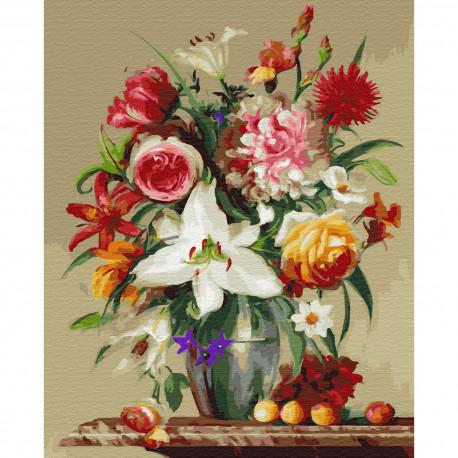 Цветы и фрукты. Бузин Картина по номерам на дереве KD0718