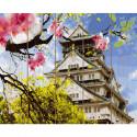 Японская весна Картина по номерам на дереве KD0723