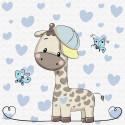 Маленький жираф Раскраска по номерам на холсте KH0450