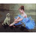 Маленькая балерина Раскраска по номерам на холсте KH0633