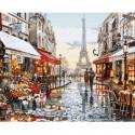 Окно в Париж Раскраска по номерам на холсте KH0608