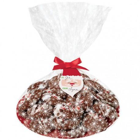 Новый год Набор подарочных прозрачных пакетов с тарелками, 4 шт Wilton ( Вилтон )