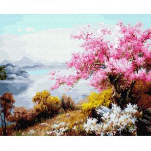 Цветение сакуры Раскраска по номерам на холсте KH0640