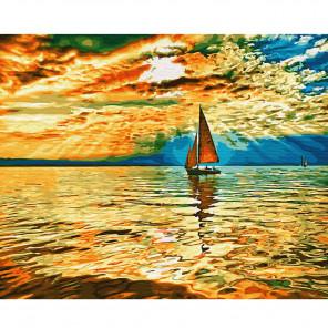 Заход солнца Раскраска по номерам на холсте KH0654