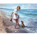 Ласковое море Раскраска по номерам на холсте KH0662