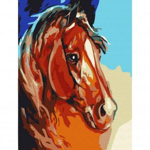 Рыжий конь Раскраска по номерам на холсте Molly KH0765