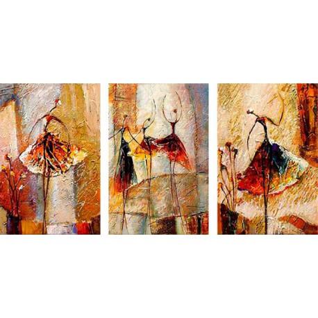 Грация Триптих Раскраска картины по номерам акриловыми красками на холсте Menglei