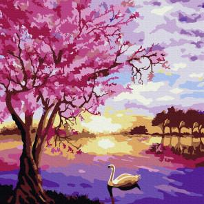 Сиреневый пейзаж Раскраска по номерам на холсте Molly KH0903