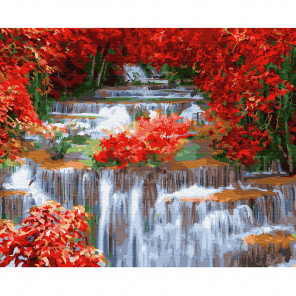 Внешний вид коробки Водопад Раскраска по номерам на холсте Molly KH0818