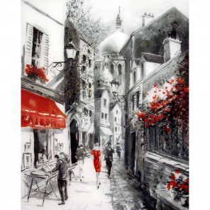 Улочка старого города Раскраска по номерам на холсте Molly KH0820