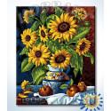 Натюрморт с подсолнухами Раскраска по номерам на холсте Hobbart Lite HB4050376-Lite