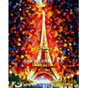 Эйфелева башня Раскраска по номерам на холсте Hobbart Lite HB3040089-Lite