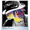 Майкл Джексон Раскраска по номерам на холсте Hobbart Lite HB4040029-Lite