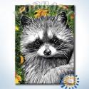 Енот Раскраска по номерам на холсте Hobbart Lite DZ3040004-LITE