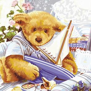 Мишки Тедди Парусник Раскраска по номерам на холсте Hobbart Lite HB4040041-LITE