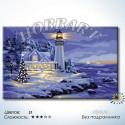 Маяк зимой Раскраска по номерам на холсте без подрамника Hobbart Lite DH5080042-Lite