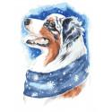 Зимний пёс Раскраска картина по номерам на холсте ME1113