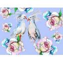 Влюбленные птицы Раскраска картина по номерам на холсте ME1122