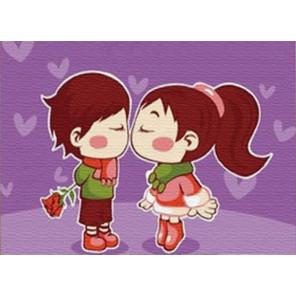 Милый поцелуй Раскраска картина по номерам PA214