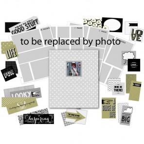 Серый в горошек Project Life Набор для создания альбома K&Company