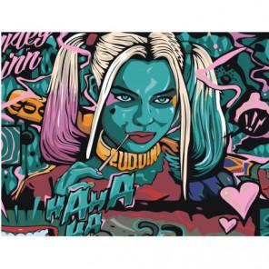 Харли Квин с битой Раскраска картина по номерам на холсте