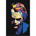 Разноцветный Джокер 100х150 Раскраска картина по номерам на холсте