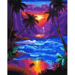 Тропический закат Раскраска картина по номерам на холсте PK59066