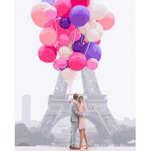 Воздушная любовь Раскраска картина по номерам на холсте GX34553