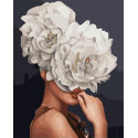 Девушка-цветок. Прекрасный цветок Раскраска картина по номерам на холсте PK59046