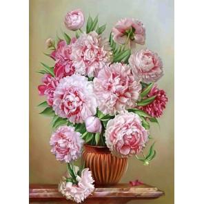 Цветок императора Ткань для вышивки лентами Каролинка КЛ-3055
