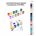 Дополнительные краски для раскраски Z101663