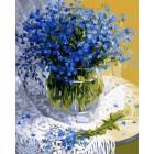 Незабутки ( художник Сидоренко Жанна ) Раскраска по номерам акриловыми красками на холсте Menglei