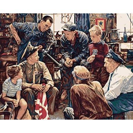 Возвращение моряка Раскраска картина по номерам Plaid ...