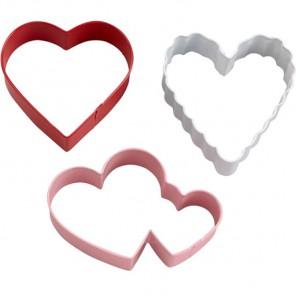 Сердца 3шт Формы металлические для вырезания печенья Wilton ( Вилтон )