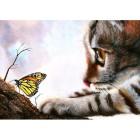 Игры с бабочкой Алмазная вышивка (мозаика) Гранни