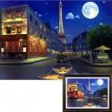 Вечерний Париж Алмазная вышивка (мозаика) Гранни