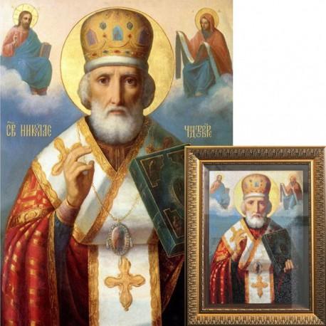 Святой Николай Чудотворец Алмазная вышивка (мозаика) Гранни