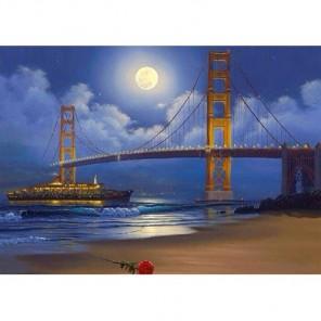 Луна над мостом Алмазная вышивка (мозаика) Гранни
