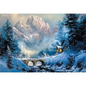 У подножия горы Алмазная вышивка (мозаика) Гранни