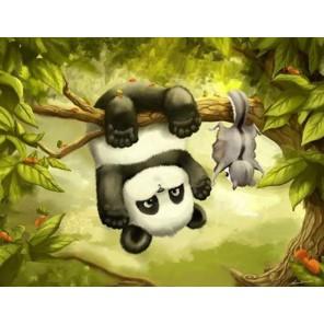 Маленькая панда Алмазная вышивка (мозаика) Гранни